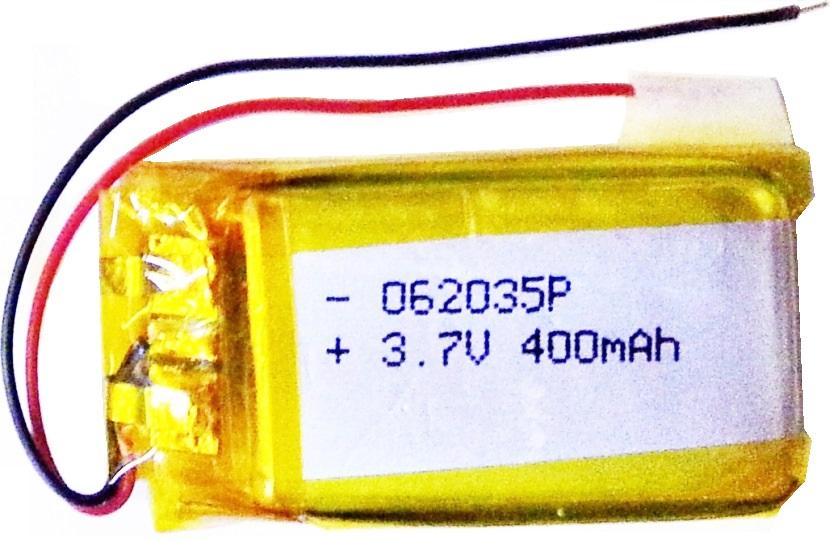 LiPo 062035P 3.7v 400mA Pcm