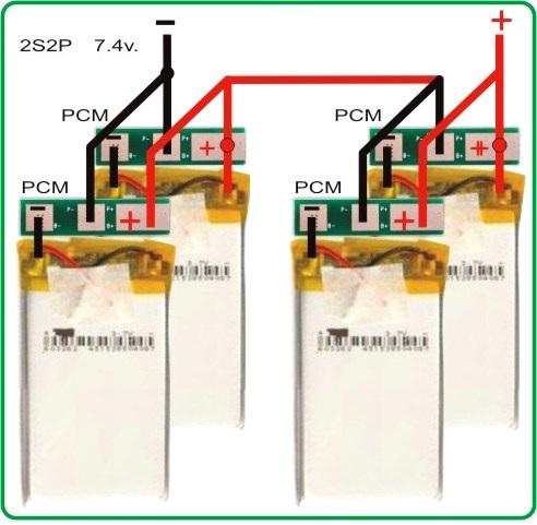conexion 2S2P Li-Po