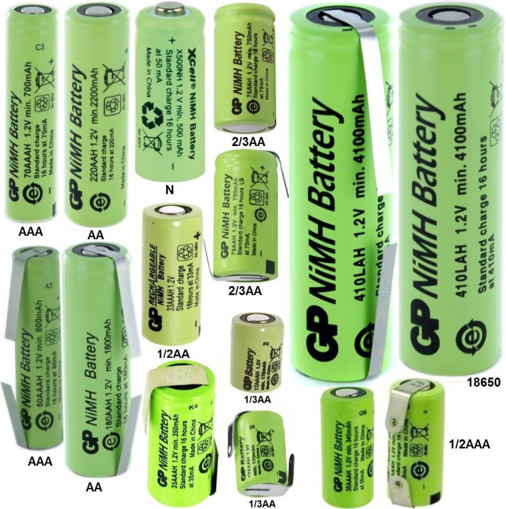 Baterías de NiCd o NiMh – baterias de litio